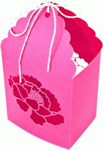 Silhouette Online Store - View Design #36551: poppy favor box