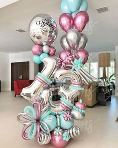 Frozen Balloons, Large Balloons, Number Balloons, Birthday Balloon Decorations, Birthday Balloons, Birthday Parties, Balloon Flowers, Balloon Bouquet, Balloon Columns