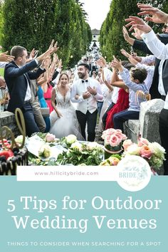 Considering outdoor wedding venues? We have 5 tips to consider when you're thinking about having your ceremony or reception outside. #outdoorwedding #outdoorweddings #weddingadvice #weddingtips #weddings #rainplan #weddingday #weddinginspiration #weddingideas Things You Need to Know About Outdoor Wedding Venues Wedding Ideas Board, Wedding Advice, Wedding Planning, Wedding Inspiration, Outdoor Wedding Venues, Wedding Events, Weddings, Hill City, Weddingideas