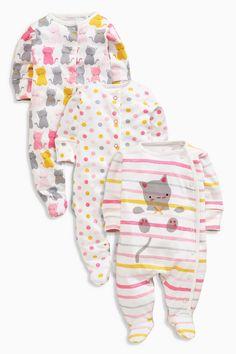 Kaufen Sie Three Pack Ochre Cat Sleepsuits (0 Monate – 2 Jahre) heute online bei Next: Deutschland