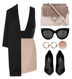 """""""YSL"""" by baludna on Polyvore featuring Chloé, Zoë Chicco, Carven, Topshop, Yves Saint Laurent, Acne Studios, MAC Cosmetics, women's clothing, women and female"""