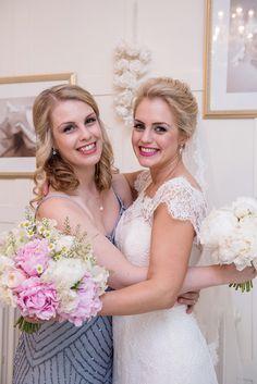 Whimsical Boho Glamour Pink Blue Gold Wedding http://www.sarareeve.com/