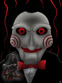 I want to play a game - Jigsaw Puppet by RobertoMochi on DeviantArt Jigsaw Doll, Jigsaw Saw, Horror Movies Funny, Scary Movies, Marduk Band, Jigsaw Movie, Facebook Featured Photos, Evil Dead, Couple Drawings