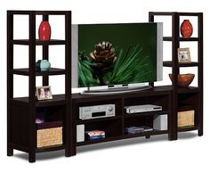 Townsend Entertainment Wall Units Collection - Value City Furniture-3 Pc. Entertainment Wall Unit $349.99