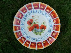 Mosaic Stepping Stone~Poppies