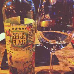 Photo by bmitch3 - Wine nightt wif mah gurl @nicolebrooke #ojsmenu #bearflag