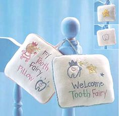 My Tooth Fairy Pillow Blue Tooth Pillow, Tooth Fairy Pillow, Fairy Gifts, Fairy Jewelry, Fairy Doors, Blue Pillows, Faeries, Tinkerbell, Teeth