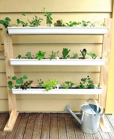 How To Make Hanging Gutter Garden Diy Amp Crafts