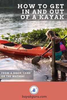 Learn how to get into and out of a kayak. From the land, the water or a dock, it;s handy to know the best technique Kayak Boats, Canoe And Kayak, Kayak Fishing, Canoes, Kayaks, Fishing 101, Beach Activities, Outdoor Activities, Kayak For Beginners