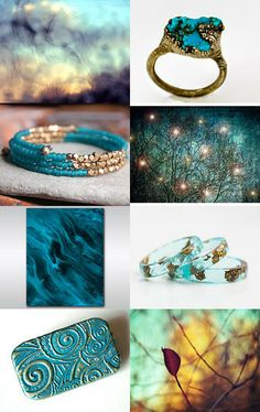 turquoise golden love by Allison Pawliw on Etsy--Pinned with TreasuryPin.com