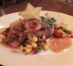 Key Lime Crab Cake & Southern Spiced Shrimp with Red Curry Tomato & Green Chili Sauce