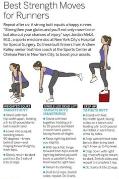 Lower body strength moves for runners. Don't forget about your arms & abs though!