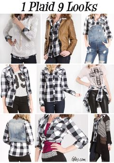 How to wear a plaid shirt 9 different ways