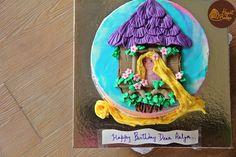 Rapunzel themed cake from HeartBakes