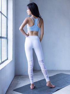 42d066957 Net Yarn Hollow Out Yoga Pants