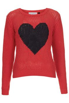 **Heart Handknit Sweater By J.W. Anderson for Topshop