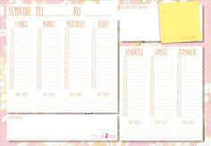 Gratuit : agenda à imprimer Imprimezvotre agenda hebdomadairepersonnalisé et organiser facilement votre semaine !