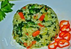 Arroz com Espinafre e Cenouras ~ Veganana