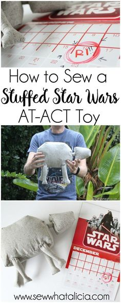 How to Sew a Stuffed Star Wars Toy: This adorable AT ACT from the new Rogue One is the perfect toy for the kids (and adults!!) Click through for the full tutorial and pattern to make your own. | http://www.sewwhatalicia.com
