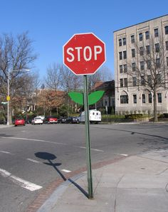 All stop signs should look like this! Ah.. the simple things in life :)