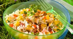 Pasta or rice: 40 salads ideal for summer - cuisine - Hühnerrezepte Diner Recipes, Cooking Recipes, Chicken Salad, Pasta Salad, Shrimp Recipes, Salad Recipes, Cooking Photography, Spaghetti Recipes, Salad Bar