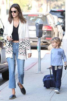 Alessandra Ambrosio does school drop-off in style.