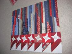 jelly roll race quilt with cute side border to add width