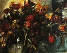 Red and Yellow Tulips - Lovis Corinth