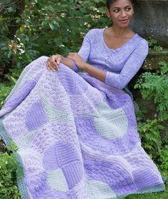Round You Go Throw - free crochet pattern