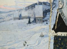 blastedheath:  Mikhail Nesterov (Russian, 1862-1942), Winter, 1910.
