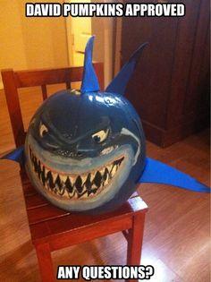 shark pumpkin Carve instead of paint Pumpkin Books, Pumpkin Art, Pumpkin Ideas, Nemo Pumpkin, Pumpkin Decorating Contest, Pumpkin Contest, Decorating Pumpkins, Hallowen Food, Hallowen Ideas