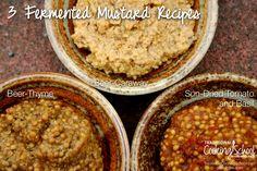 Enjoy these three tasty, whole grain, lacto-fermented mustard recipes Homemade Mustard, Smoked Salmon Salad, Dips, Mustard Recipe, Cooking School, Whole Food Recipes, Yummy Recipes, Crockpot Recipes, Soup Recipes