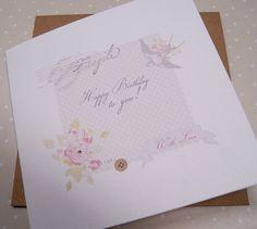 Happy Birthday card- Button Box Cards