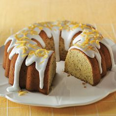 This classic pound cake is tender with a heavenly lemon flavor.