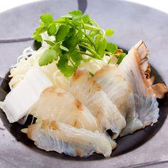 Seasonal fish in soya milk soup