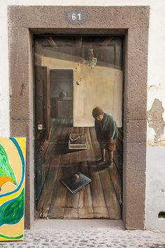 Rua de Santa Maria by Dmitri Korobtsov, via Flickr...a sort of Trompe de l'oiel effect