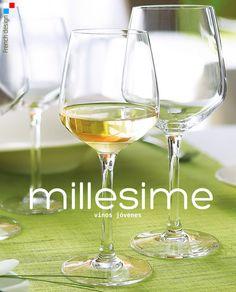 MILLESIME, diseño francés contemporáneo de líneas angulares.  Esta #copa de #Chef&Sommelier es el escenario perfecto para la #degustación de los #vinos jóvenes. Gran superficie de #oxigenación. Disponible desde 2€/unidad en http://www.tiendacrisol.com/tienda.php?Id=161