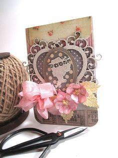 shabby birthday card-LADY CAMEO by cherrysjubileecards on Etsy