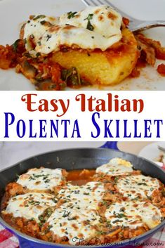 Cheesy Italian Polenta Skillet is a healthy weeknight dinner made with tubed polenta, ground turkey, and veggies. Cheesy Italian Polenta Skillet is a healthy weeknight dinner made with tubed polenta, ground turkey, and veggies. Parmesan, Vegetarian Recipes, Cooking Recipes, Healthy Recipes, Grilling Recipes, Healthy Pizza, Bread Recipes, Yummy Recipes, Italian Dishes