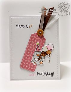 Your Next Stamp:  Waddles Happy Brrr-thday stamp set and coordinating dies, Bookmark/Tag Die Set - Large and Stitched Rectangles Dies  #yournextstamp