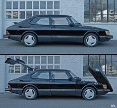 An example of my first 1985 Saab SPG - triple black. Saab 900, Retro Cars, Vintage Cars, Saab Automobile, Saab Turbo, National Electric, Wheel Of Life, Car Goals, Classic Cars