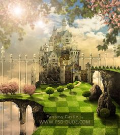 Create a Fantasy Castle in Photoshop Inspired by The Movie Alice in Wonderland - Photoshop tutorial   PSDDude