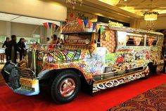 We call it jeepney...one of the public transportation in the Philippines
