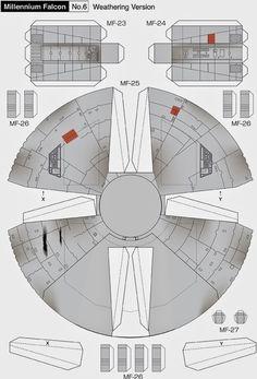 Maqueta descargable del Halcón Milenario7