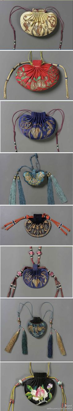 Chinese Textiles - Pouches Love these. They remind me a little of treasure purses