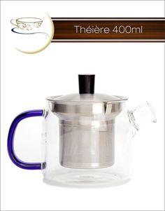 Théière avec infuseur en inox 400ml Thés Joséphine thesjosephine.com