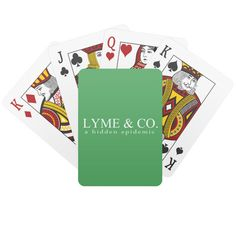 """Stylish text design of a mock logo that says """"Lyme & Co."""" with a tagline that says """"a hidden epidemic"""". Designed to bring awareness to Lyme Disease and co-infections such as Babesia, Bartonella, Ehrlichia, Mycoplasma, Anaplasma, Rocky Mountain Spotted Fever, and Tularemia in a stylish and slightly humorous way. Rocky Mountain Spotted Fever, Stylish Text, Unique Birthday Gifts, Lyme Disease, Text Design, Deck Of Cards, Book Worms, Wedding Favors, Playing Cards"""