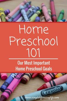Important goals for preschool. Plus free eBook on how to create your own preschool program!