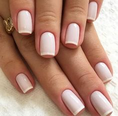 natural wedding nail art shows more beauty to the bride – Page 9 – Kornelia Nowak wedding nails French Manicure Gel, French Tip Nails, Manicure And Pedicure, French Manicures, White French Nails, French Tips, Natural Wedding Nails, Natural Nails, Chic Nails