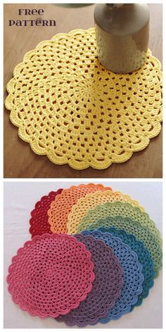 Wonderful Screen Crochet Doilies easy Tips Easy Lace Doily Free Crochet Pattern Crochet Placemat Patterns, Crochet Coaster Pattern, Crochet Dishcloths, Free Doily Patterns, Crochet Doily Diagram, Crochet Dollies, Crochet Gifts, Lace Doilies, Thread Crochet
